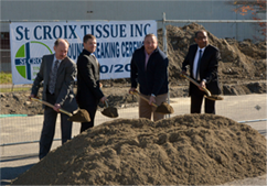 St Croix Tissue ground breaking.